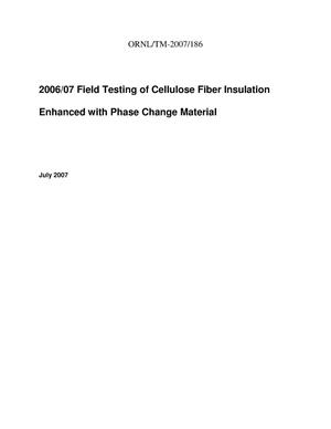 Primary view of object titled '2006/07 Field Testing of Cellulose Fiber Insulation Enhanced with Phase Change Material'.