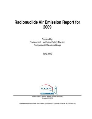 Primary view of object titled 'Radionuclide Air Emission Report for 2009'.