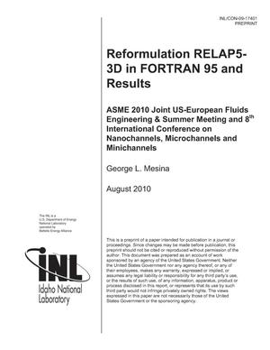 Primary view of object titled 'Reformulation RELAP5-3D in FORTRAN 95 and Results'.