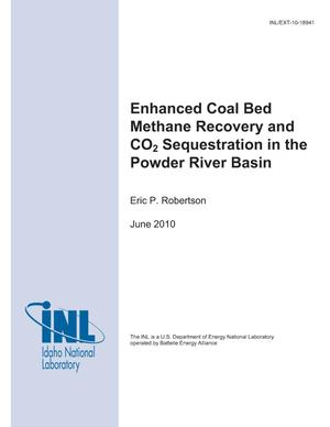 Primary view of object titled 'Enhanced Coal Bed Methane Recovery and CO2 Sequestration in the Powder River Basin'.