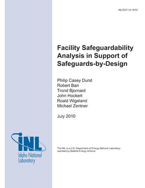 Primary view of object titled 'Facility Safeguardability Analysis In Support of Safeguards-by-Design'.