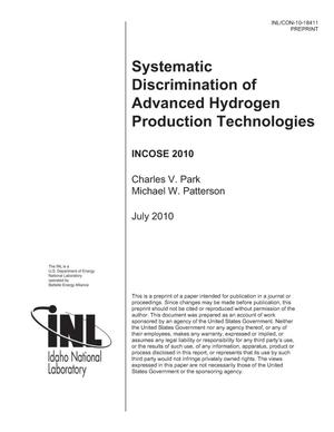 Primary view of object titled 'Systematic Discrimination of Advanced Hydrogen Production Technologies'.