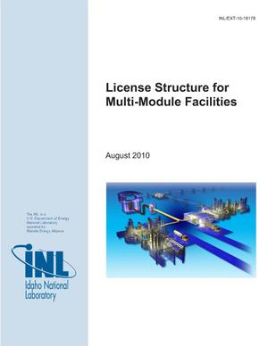 Primary view of object titled 'License Structure for Multi-Module Facilities'.