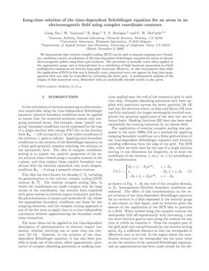 Primary view of object titled 'Long-time solution of the time-dependent Schroedinger equation for an atom in an electromagnetic field using complex coordinate contours'.