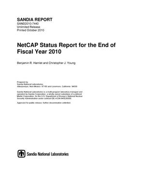 Primary view of object titled 'NetCAP status report for the end of fiscal year 2010.'.