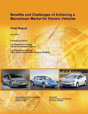 Primary view of object titled 'Benefits and Challenges of Achieving a Mainstream Market for Electric Vehicles'.