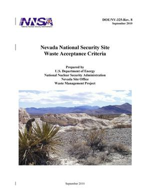 Primary view of object titled 'Nevada National Security Site Waste Acceptance Criteria'.