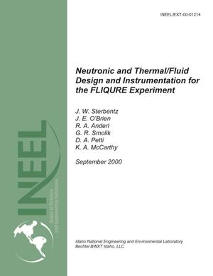 Primary view of object titled 'Neutronic and Thermal/Fluid Design and Instrumentation for the FLIQURE Experiment'.