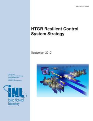 Primary view of object titled 'HTGR Resilient Control System Strategy'.