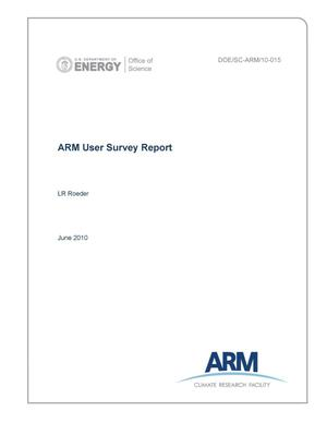 Primary view of object titled 'ARM User Survey Report'.