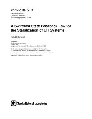 Primary view of object titled 'A switched state feedback law for the stabilization of LTI systems.'.