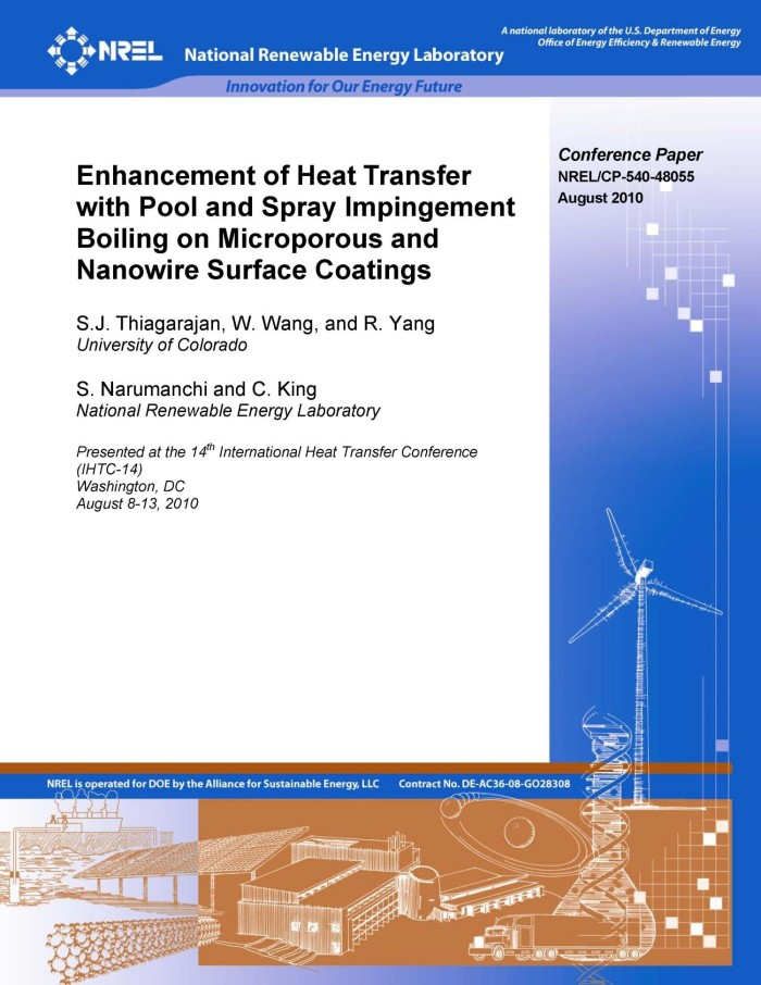 Enhancement of Heat Transfer with Pool and Spray Impingement Boiling