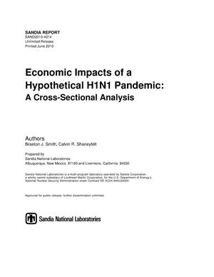 Primary view of object titled 'Economic impacts of a hypothetical H1N1 pandemic : a cross-sectional analysis.'.