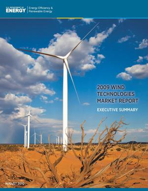 Primary view of object titled '2009 Wind Technologies Market Report: Executive Summary'.