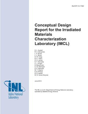 Primary view of object titled 'Conceptual Design Report for the Irradiated Materials Characterization Laboratory (IMCL)'.
