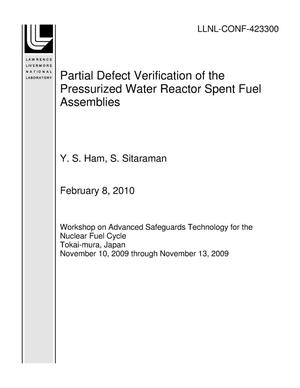 Primary view of object titled 'Partial Defect Verification of the Pressurized Water Reactor Spent Fuel Assemblies'.