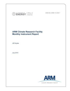 Primary view of object titled 'ARM Climate Research Facility Monthly Instrument Report July 2010'.