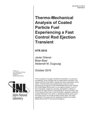 Primary view of object titled 'Thermo-Mechanical Analysis of Coated Particle Fuel Experiencing a Fast Control Rod Ejection Transient'.