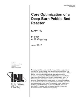 Primary view of object titled 'Core Optimization of a Deep-Burn Pebble Bed Reactor'.