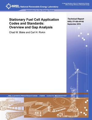 Primary view of object titled 'Stationary Fuel Cell Application Codes and Standards: Overview and Gap Analysis'.