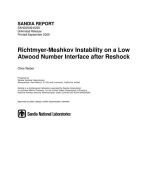 Primary view of object titled 'Richtmyer-Meshkov instability on a low atwood number interface after reshock.'.