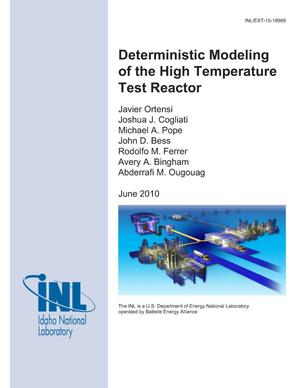 Primary view of object titled 'Deterministic Modeling of the High Temperature Test Reactor'.