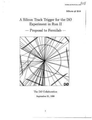 Primary view of object titled 'A Silicon Track Trigger for the D0 Experiment in Run II'.