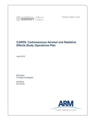 Primary view of object titled 'CARES: Carbonaceous Aerosol and Radiative Effects Study Operations Plan'.