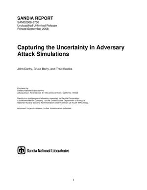 Primary view of object titled 'Capturing the uncertainty in adversary attack simulations.'.