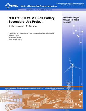 Primary view of object titled 'NREL's PHEV/EV Li-Ion Battery Secondary-Use Project'.