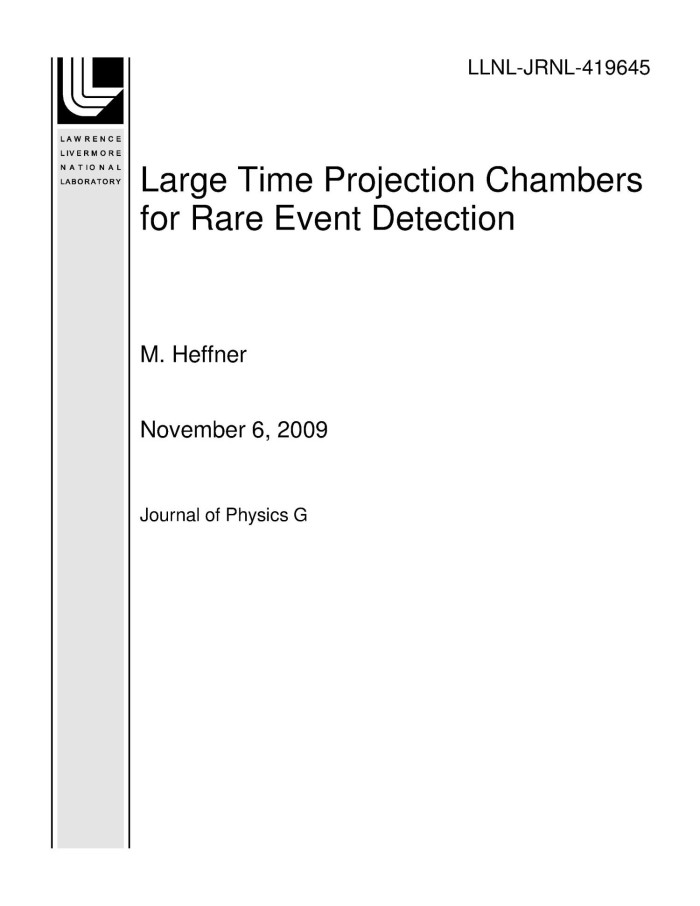 Large Time Projection Chambers for Rare Event Detection - Digital