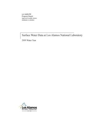 Primary view of object titled 'Surface water data at Los Alamos National Laboratory: 2009 water year'.