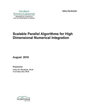 Primary view of object titled 'Technical Report: Scalable Parallel Algorithms for High Dimensional Numerical Integration'.