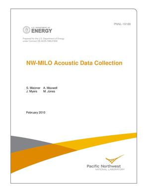 Primary view of object titled 'NW-MILO Acoustic Data Collection'.