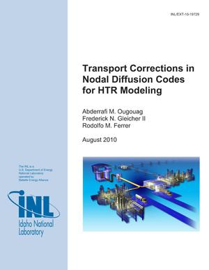 Primary view of object titled 'Transport Corrections in Nodal Diffusion Codes for HTR Modeling'.