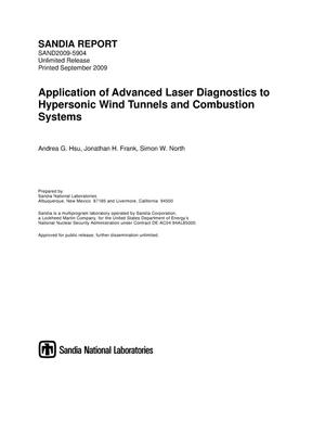 Primary view of object titled 'Application of advanced laser diagnostics to hypersonic wind tunnels and combustion systems.'.