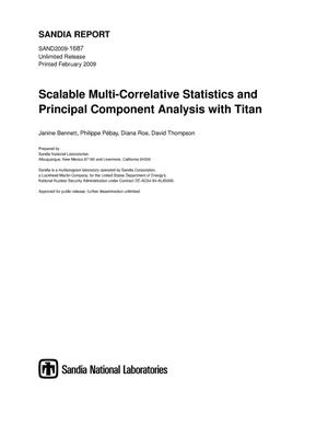 Primary view of object titled 'Scalable multi-correlative statistics and principal component analysis with Titan.'.