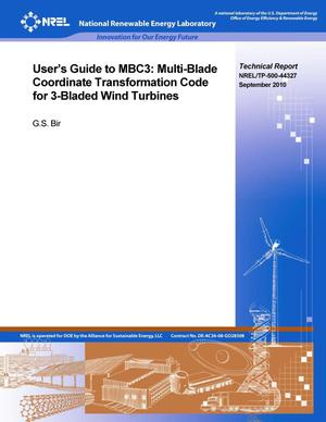 Primary view of object titled 'User's Guide to MBC3: Multi-Blade Coordinate Transformation Code for 3-Bladed Wind Turbine'.