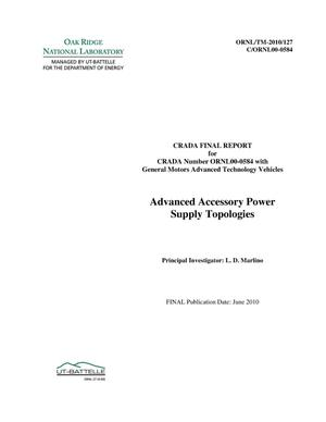 Primary view of object titled 'Advanced Accessory Power Supply Topologies'.