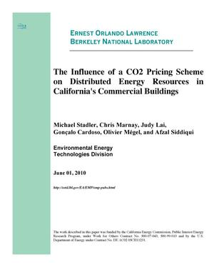 Primary view of object titled 'The Influence of a CO2 Pricing Scheme on Distributed Energy Resources in California's Commercial Buildings'.