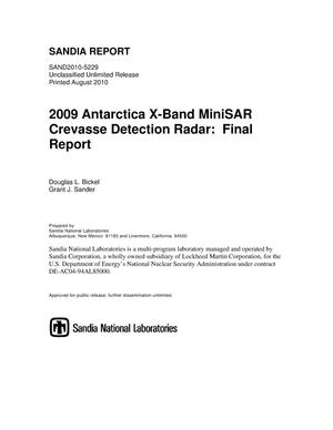 Primary view of object titled 'Antarctica X-band MiniSAR Crevasse Detection Radar : draft final report.'.