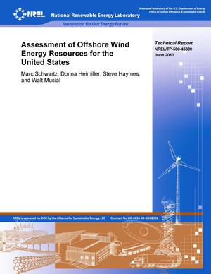 Primary view of object titled 'Assessment of Offshore Wind Energy Resources for the United States'.