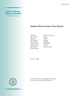 Primary view of object titled 'Radiation Effects in Nuclear Waste Materials'.