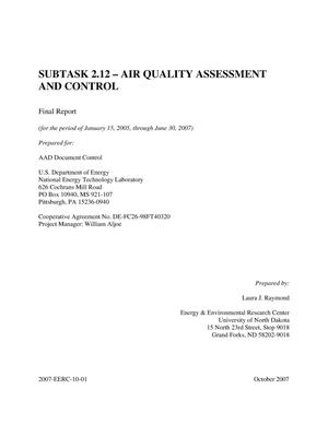 Primary view of object titled 'Subtask 2.12 - Air Quality Assessment and Control'.