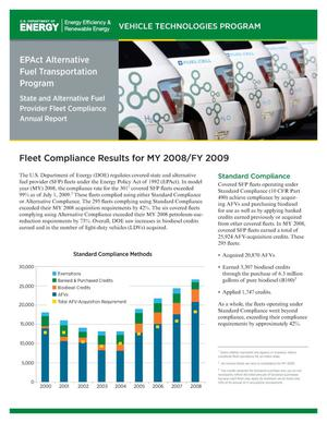Primary view of object titled 'EPAct Alternative Fuel Transportation Program: State and Alternative Fuel Provider Fleet Compliance Annual Report (Brochure)'.