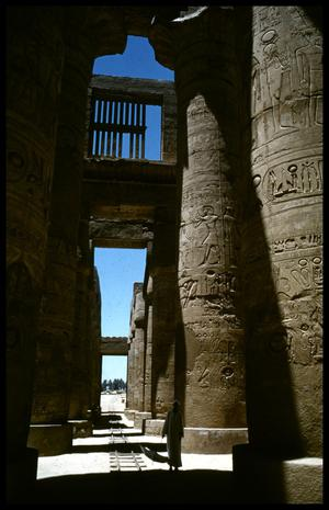 Primary view of object titled '[Columns with Hieroglyphics]'.
