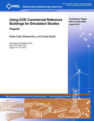 Primary view of object titled 'Using DOE Commercial Reference Buildings for Simulation Studies: Preprint'.