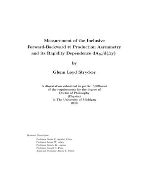 Primary view of object titled 'Measurement of the inclusive forward-backward t$\bar{t}$ production asymmetry and its rapidity dependence dA<sub>fb</sub>/d(Δy)'.