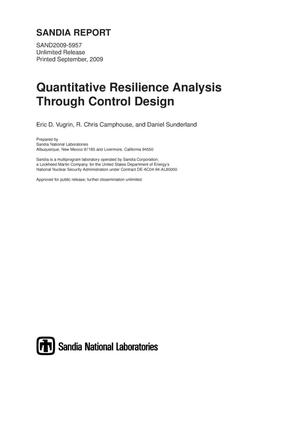 Primary view of object titled 'Quantitative resilience analysis through control design.'.
