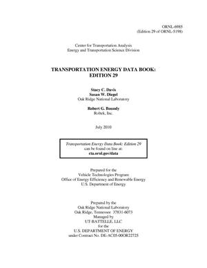 Primary view of object titled 'Transportation Energy Data Book: Edition 29'.